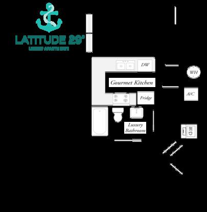 1 Bedroom 1 Bathroom Apartment for rent at Latitude 29º in Gainesville, FL