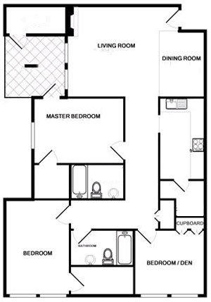 3 Bedrooms 2 Bathrooms Apartment for rent at Arbors Of Watermark in Columbus, OH