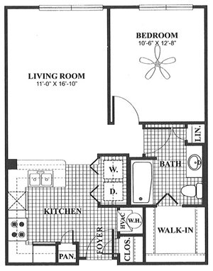 1 Bedroom 1 Bathroom Apartment for rent at The Meridian in Columbus, OH
