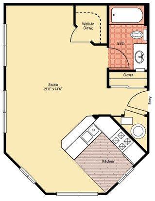 Studio 1 Bathroom Apartment for rent at The Quarry in Columbus, OH