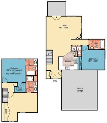3 Bedrooms 3 Bathrooms Apartment for rent at The Quarry in Columbus, OH