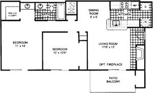 2 Bedrooms 1 Bathroom Apartment for rent at Northwoods Apartments in Columbus, OH