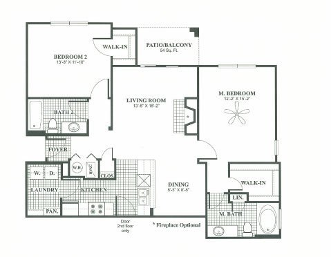 2 Bedrooms 2 Bathrooms Apartment for rent at River Oaks Apartments in Columbus, OH