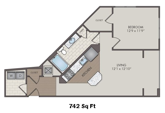 1 Bedroom 1 Bathroom Apartment for rent at Silos South End in Charlotte, NC