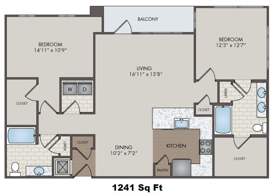 2 Bedrooms 2 Bathrooms Apartment for rent at Silos South End in Charlotte, NC