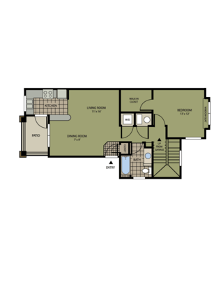 1 Bedroom 1 Bathroom Apartment for rent at Carriage Place in Denver, CO