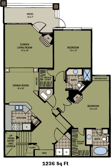 2 Bedrooms 2 Bathrooms Apartment for rent at Carriage Place in Denver, CO
