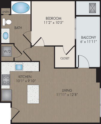 1 Bedroom 1 Bathroom Apartment for rent at Hartley Flats in Denver, CO