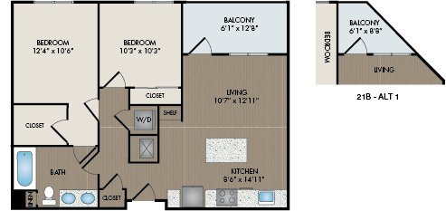 2 Bedrooms 1 Bathroom Apartment for rent at Hartley Flats in Denver, CO