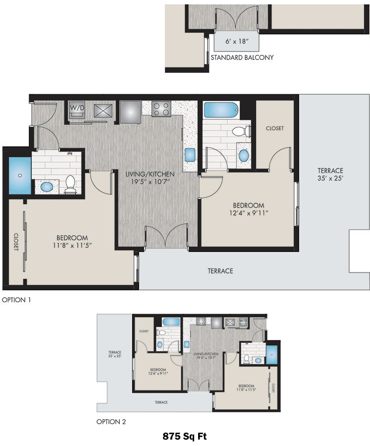 2 Bedrooms 2 Bathrooms Apartment for rent at Studio Lohi in Denver, CO