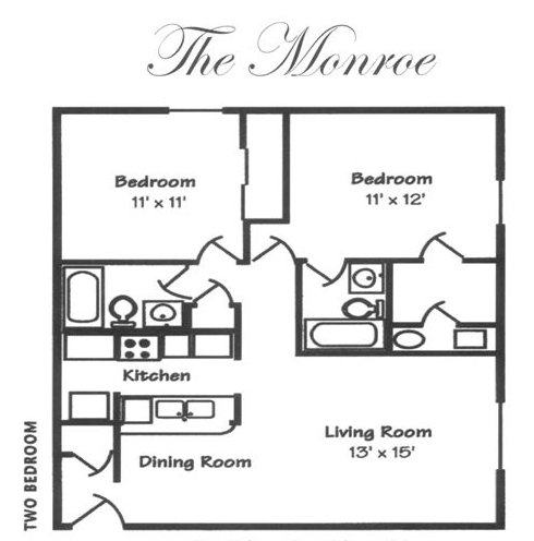 2 Bedrooms 2 Bathrooms Apartment for rent at Wellington House Apartments in Toledo, OH