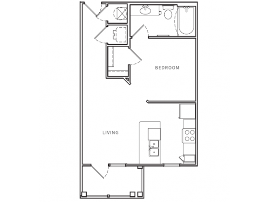 1 Bedroom 1 Bathroom Apartment for rent at Opus in Nashville, TN
