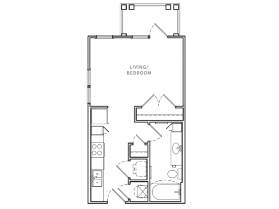 Studio 1 Bathroom Apartment for rent at Opus in Nashville, TN