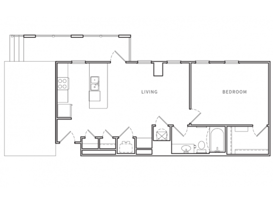 1 Bedroom 1 Bathroom Apartment for rent at Opus in Nashville, TN