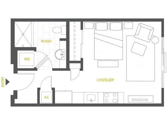 Studio 1 Bathroom Apartment for rent at Velocity In The Gulch in Nashville, TN