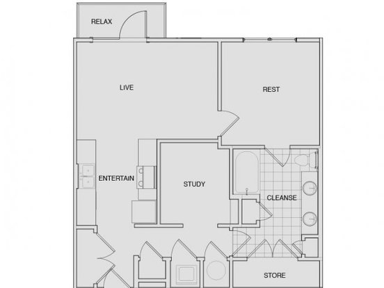 1 Bedroom 1 Bathroom Apartment for rent at Note 16 in Nashville, TN