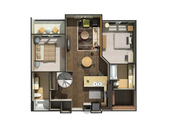 2 Bedrooms 2 Bathrooms Apartment for rent at Eleven North in Nashville, TN