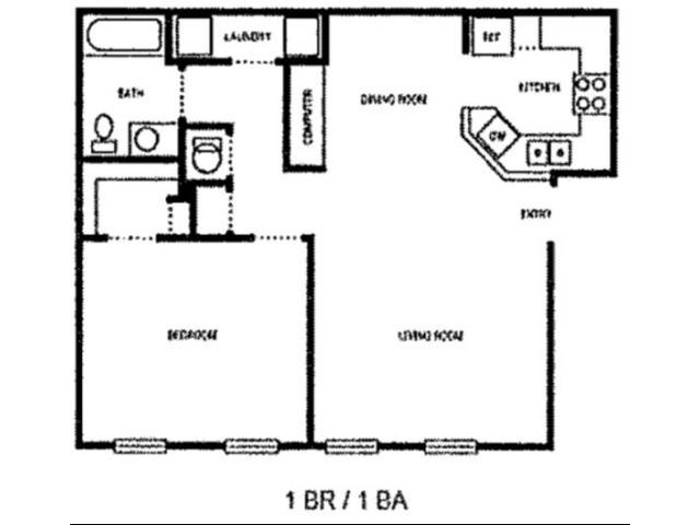 1 Bedroom 1 Bathroom Apartment for rent at Village Highlands in East Point, GA
