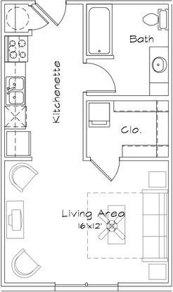 Studio 1 Bathroom Apartment for rent at The Factory Apartments in College Station,