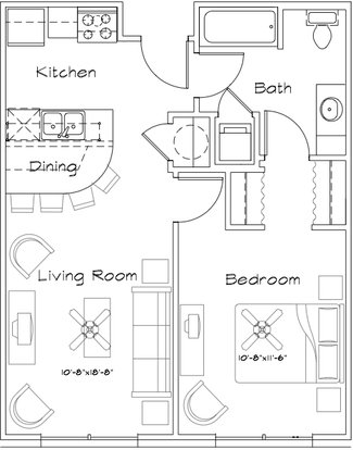 1 Bedroom 1 Bathroom Apartment for rent at The Factory Apartments in College Station,