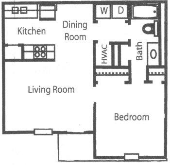 1 Bedroom 1 Bathroom Apartment for rent at Arborgate Apartment Homes in Charlotte, NC
