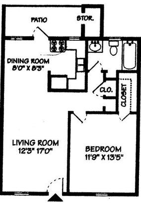 1 Bedroom 1 Bathroom Apartment for rent at Forestbrook Apartment Homes in Charlotte, NC