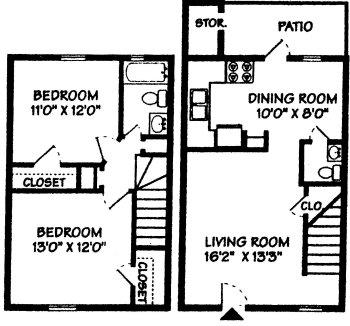 2 Bedrooms 2 Bathrooms Apartment for rent at Forestbrook Apartment Homes in Charlotte, NC