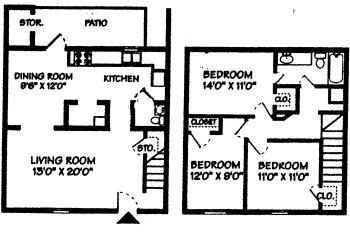 3 Bedrooms 2 Bathrooms Apartment for rent at Forestbrook Apartment Homes in Charlotte, NC
