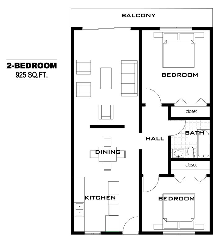 2 Bedrooms 1 Bathroom Apartment for rent at Country Club Apartments in Oregon, OH