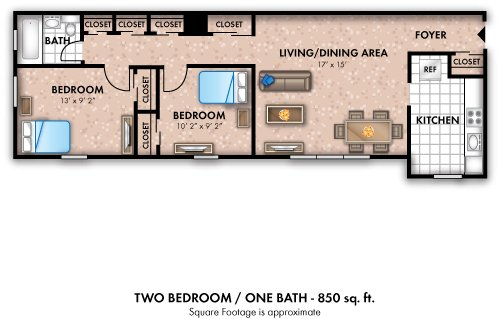 2 Bedrooms 1 Bathroom Apartment for rent at The Flats At Douglas in Toledo, OH