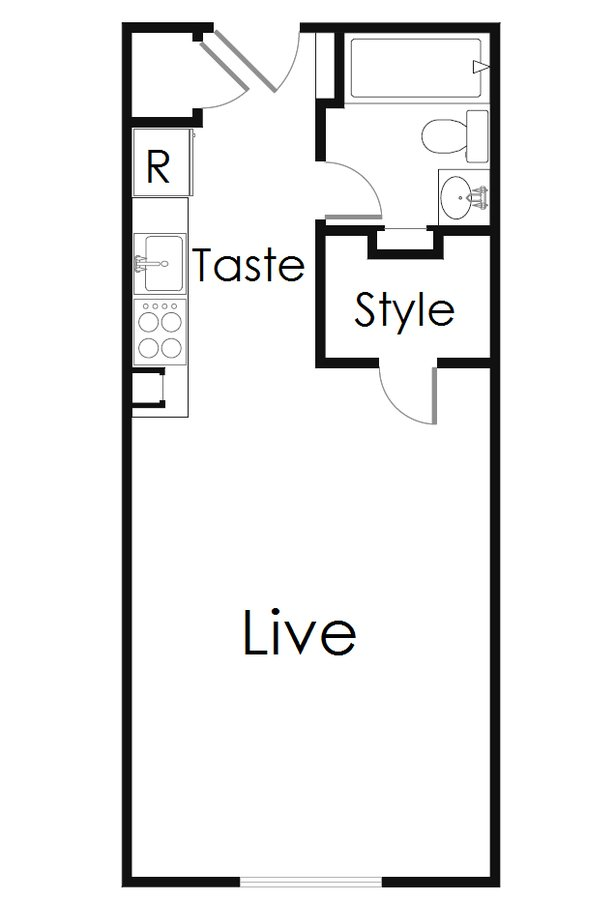 Studio 1 Bathroom Apartment for rent at The Beverly in San Antonio, TX
