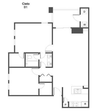 2 Bedrooms 1 Bathroom Apartment for rent at Cielo in San Antonio, TX