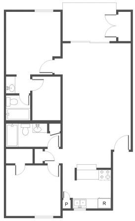 2 Bedrooms 2 Bathrooms Apartment for rent at The Canopy in San Antonio, TX