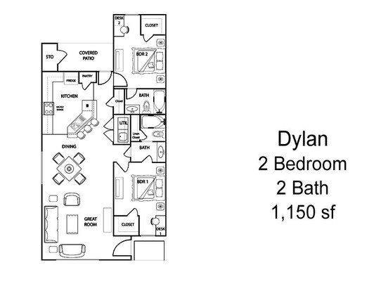 2 Bedrooms 2 Bathrooms Apartment for rent at The Village At Creek Meadows in College Station, TX