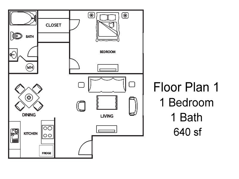 1 Bedroom 1 Bathroom Apartment for rent at Brazos Point in College Station, TX