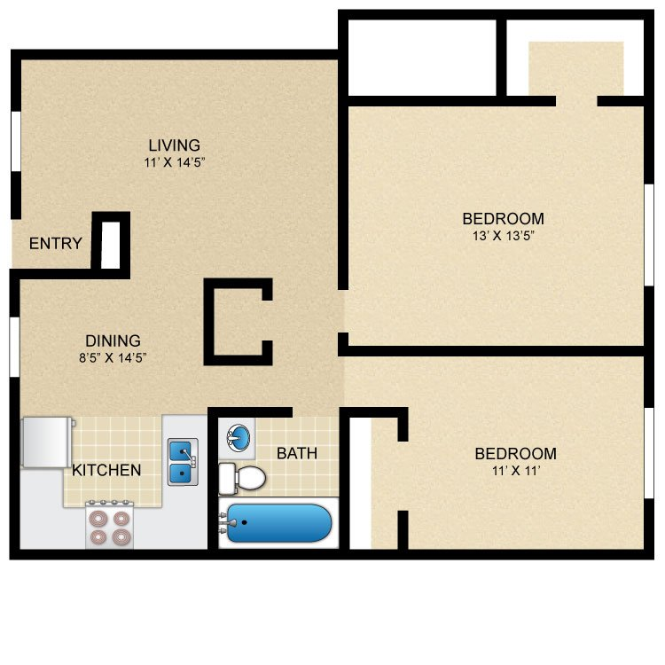 2 Bedrooms 1 Bathroom Apartment for rent at Casa Del Sol in College Station, TX