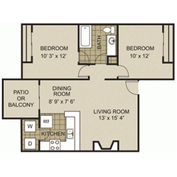 2 Bedrooms 1 Bathroom Apartment for rent at Manchester Park in Arlington, TX