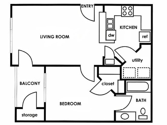 1 Bedroom 1 Bathroom Apartment for rent at Timothy Woods in Athens, GA