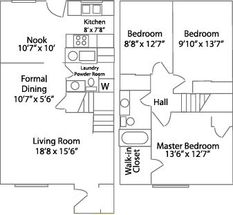 3 Bedrooms 2 Bathrooms Apartment for rent at Mossing Apartments in Toledo, OH