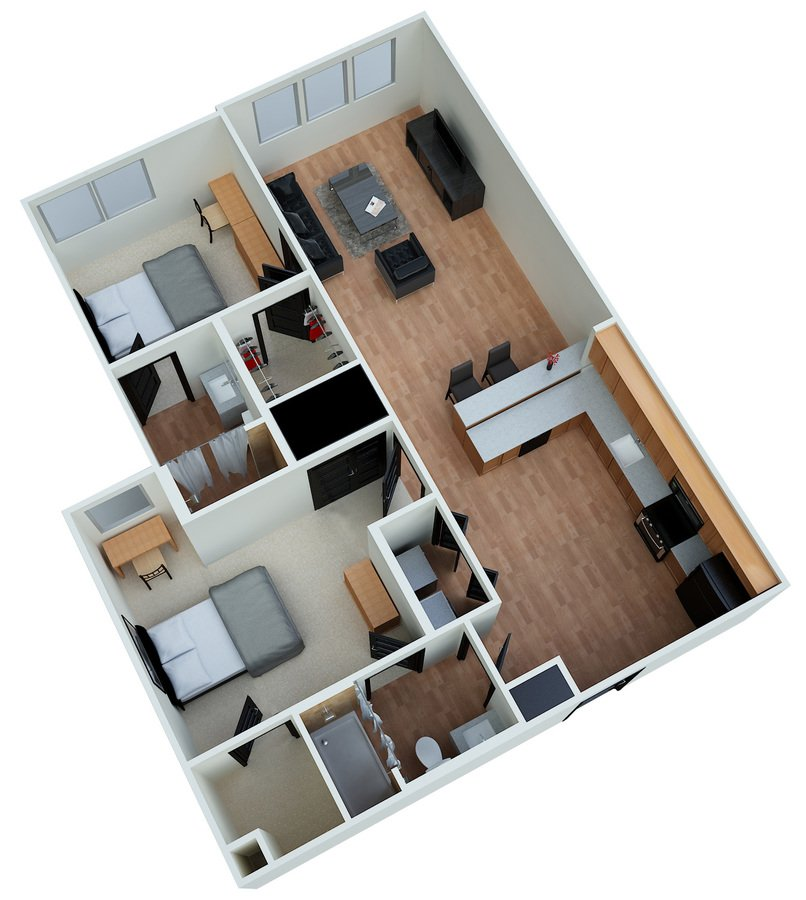 2 Bedrooms 2 Bathrooms Apartment for rent at Eclipse On Madison in Tallahassee, FL