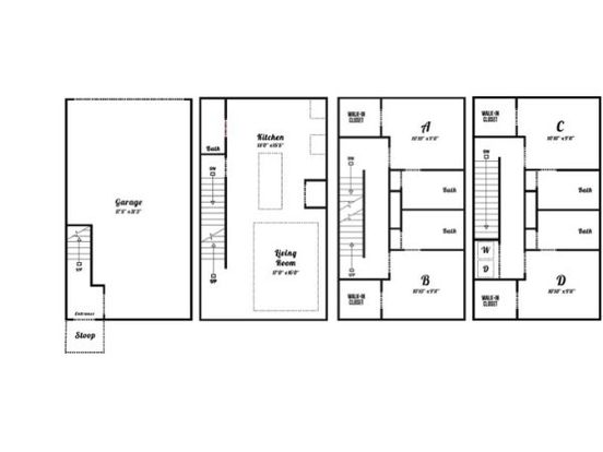 4 Bedrooms 4+ Bathrooms Apartment for rent at Eclipse On Broad in Athens, GA
