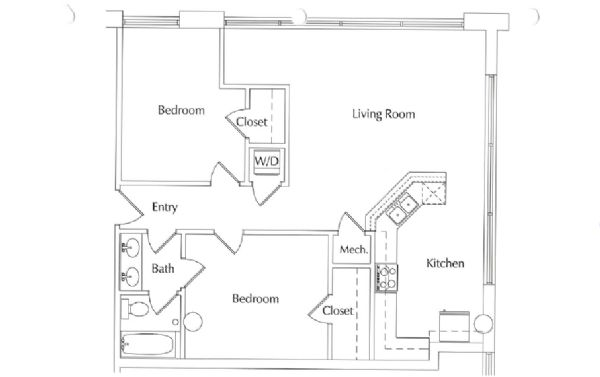 2 Bedrooms 1 Bathroom Apartment for rent at Ll Sams Historic Lofts in Waco, TX