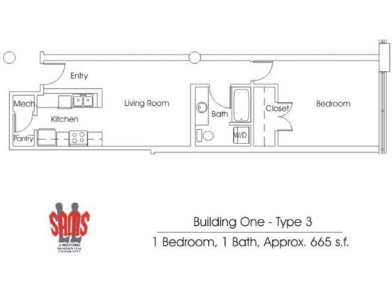 1 Bedroom 1 Bathroom Apartment for rent at Ll Sams Historic Lofts in Waco, TX
