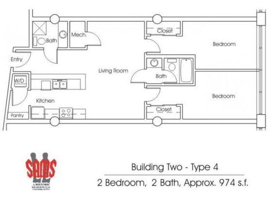 2 Bedrooms 2 Bathrooms Apartment for rent at Ll Sams Historic Lofts in Waco, TX