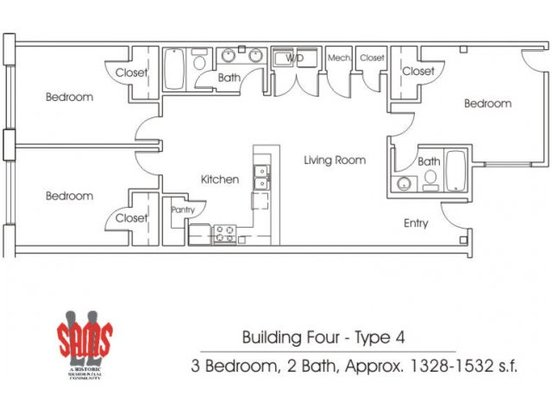3 Bedrooms 2 Bathrooms Apartment for rent at Ll Sams Historic Lofts in Waco, TX