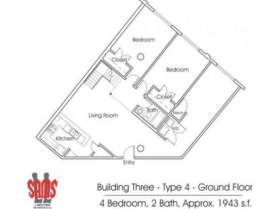 4 Bedrooms 2 Bathrooms Apartment for rent at Ll Sams Historic Lofts in Waco, TX