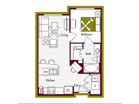 1 Bedroom 1 Bathroom Apartment for rent at Domain At Northgate in College Station, TX
