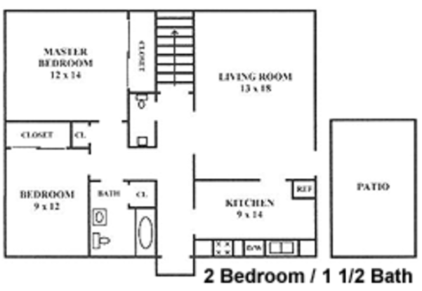 2 Bedrooms 2 Bathrooms Apartment for rent at Steeplechase Village Apartments in Columbus, OH