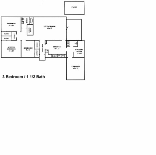 3 Bedrooms 2 Bathrooms Apartment for rent at Steeplechase Village Apartments in Columbus, OH