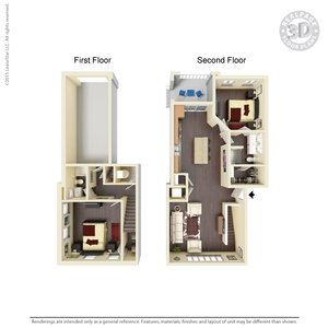 2 Bedrooms 2 Bathrooms Apartment for rent at Water Street Flats in Dayton, OH